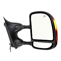 Mirror - Passenger Side, Towing, Power, Heated, Folding, Textured Black, With In-Housing Turn Signal, Blind Spot Glass, Telescopic