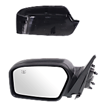 Mirror - Driver Side, Power, Heated, With Paintable and Textured Black Caps, With Puddle Lamp