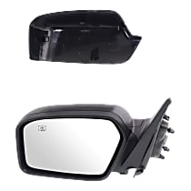 Mirror Non-folding Heated - Driver Side, 2 Caps - Paintable & Textured Black