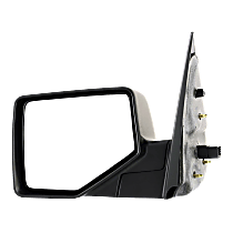 Mirror Non-Heated - Driver Side, Power Glass, 2 Caps - Chrome & Paintable