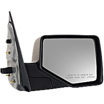 Mirror - Passenger Side, Power, With 1 Chrome and 1 Paintable Cap, With Puddle Lamp