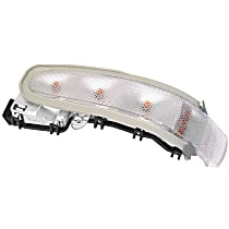 FER 02417391104 Door Mirror Turn Signal Light With Amber Bulbs - Replaces OE Number 203-820-01-21