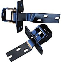 0846-205 Door Hinge - Upper and Lower, Driver Side, Black, Direct Fit, Set of 2