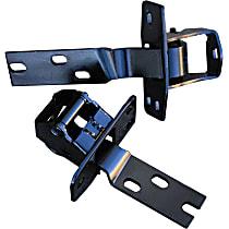 0846-206 Door Hinge - Upper and Lower, Passenger Side, Black, Direct Fit, Set of 2
