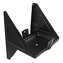 0847-242 U Battery Tray - Black, Steel, Direct Fit, Sold individually