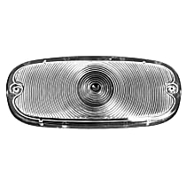 Key Parts 0847-529 Parking Light Lens - Clear, Direct Fit