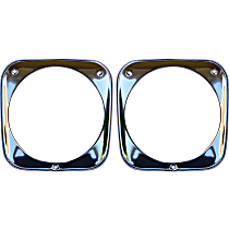 Key Parts 0848-056 Headlight Bezel - Chrome, Steel, Direct Fit, Sold individually