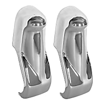 Bumper Guard - Front, Driver and Passenger Side, Chrome, Steel, Direct Fit, Set of 2