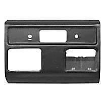 0848-350 U Dash Panel - Black, Plastic, Direct Fit