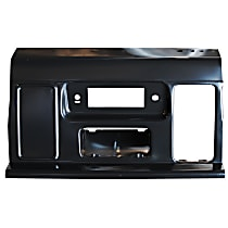 0848-351 U Dash Panel - Black, Plastic, Direct Fit