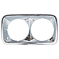 Key Parts 0849-057 L Headlight Bezel - Chrome, Steel, Direct Fit, Sold individually