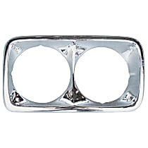 Key Parts 0849-058 R Headlight Bezel - Chrome, Steel, Direct Fit, Sold individually