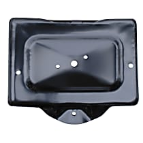0849-240 U Battery Tray - Black, Steel, Direct Fit, Sold individually