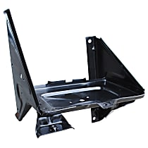 0849-242 U Battery Tray - Black, Steel, Direct Fit, Sold individually