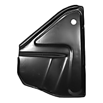 0850-239 U Battery Tray - Black, Steel, Direct Fit, Sold individually