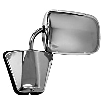 Driver or Passenger Side Mirror - Manual Glass,, Polished