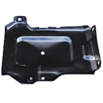 0870-240 U Battery Tray - Black, Steel, Direct Fit, Sold individually