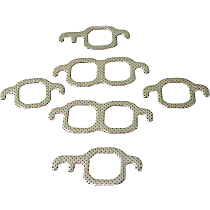 Felpro MS9275B Exhaust Manifold Gasket - Compressed fiber laminate, Direct Fit, Set of 6