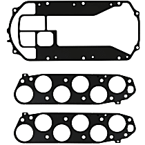 Felpro MS 96384-3 Intake Plenum Gasket - Direct Fit, Set of 3