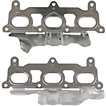 Felpro MS 96970 Exhaust Manifold Gasket - Steel core laminate, Direct Fit, Set of 2