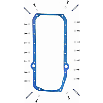 Oil Pan Gasket - Rubber with steel core, Direct Fit, Set