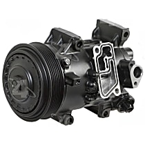 1177322 A/C Compressor Sold individually with Clutch, 6-Groove Pulley