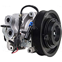 198372 A/C Compressor Sold individually With clutch, 8-Groove Pulley