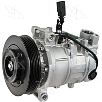 198378 A/C Compressor Sold individually With clutch, 6-Groove Pulley