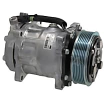 58711 A/C Compressor Sold individually With clutch, 7-Groove Pulley