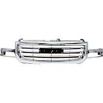 Grille Assembly - Chrome Shell and Insert, Except Denali Model