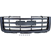 Grille Assembly - Textured Black Shell and Insert, Except Base/Denali Models