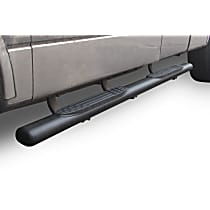 104404080T 1000 Series Powdercoated Textured Black Nerf Bars, Covers Cab Length - Set of 2