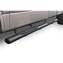 Go Rhino 1000 Powdercoated Textured Black Nerf Bars, Covers Cab Length - Set of 2
