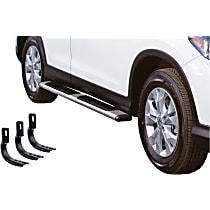 Go Rhino OE Xtreme Low Profile SideSteps Polished Nerf Bars, Covers Cab Length - Set of 2