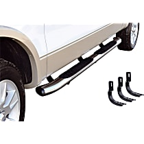Chrome Nerf Bars, Covers Cab Length - Set of 2