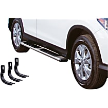 685423971PS OE Xtreme Low Profile SideSteps Series Polished Nerf Bars, Covers Cab Length - Set of 2