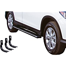 Go Rhino OE Xtreme Low Profile SideSteps Powdercoated Black Nerf Bars, Covers Cab Length - Set of 2