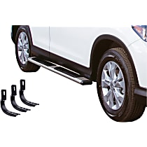 Go Rhino OE Xtreme Low Profile SideSteps Polished Nerf Bars, Covers Cab Length - Set of 2