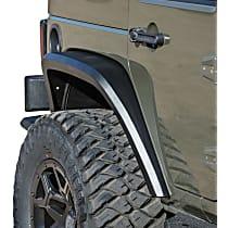 701062T Rear, Driver and Passenger Side Roadline Series Fender Flares, Powdercoated Textured Black