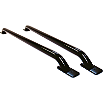 8076B Bed Rails - Powdercoated Black, Steel, Direct Fit, Set of 2