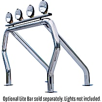 9009560SSS Bed Bar - Polished, Stainless Steel, Direct Fit, Sold individually