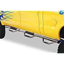 Polished Nerf Bars, Covers Wheel to wheel - Set of 2