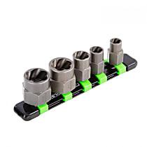 22992 5 Piece Spiral Type Extractor Set on Aluminum Rail