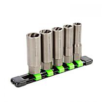 22993 5 Piece Spiral Type Deep Extractor Set on Aluminum Rail