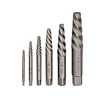 24374 6 Piece Spiral Flute Screw Extractor Set
