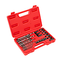 24376 25 Piece Screw Extractor and Drill and Guide Set