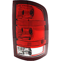 Passenger Side Tail Light, With bulb(s) - Clear & Red Lens, SL/SLE/SLT/WT Models, New Body Style