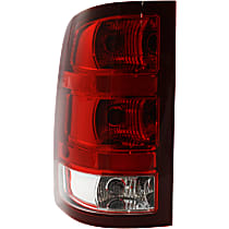 Driver Side Tail Light, With bulb(s) - Clear & Red Lens, SL/SLE/SLT/WT Models, New Body Style