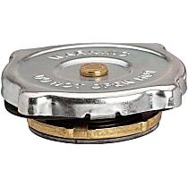 31349 Radiator Cap - Round, 10 psi, Chrome, Steel, Sold individually