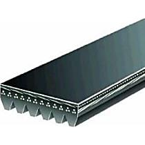 Gates K060825 Serpentine Belt - V-belt, Direct Fit, Sold individually